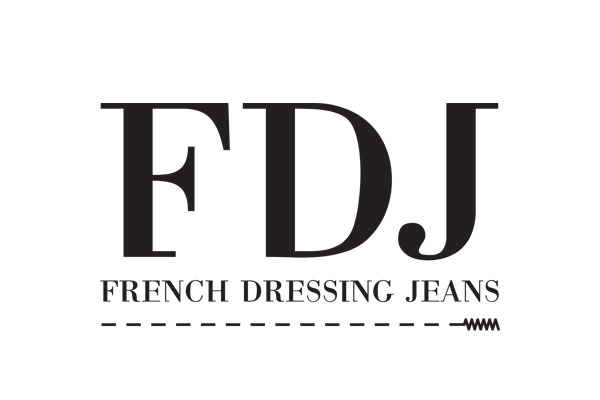 Logo-fej-french dressing jeans
